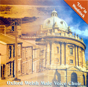 Live in woodstock cd cover past CD of oxford welsh male voice choir
